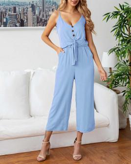 Γυναικείο σετ παντελόνι και τοπάκι 5106 γαλάζιο