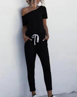 Γυναικεία αθλητική ολόσωμη φόρμα 2194 μαύρη