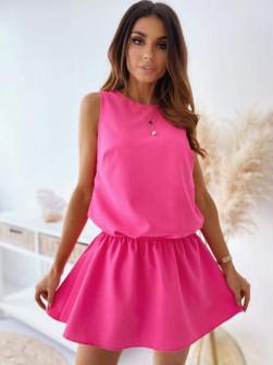 Γυναικείο κοντό φόρεμα 2325 φούξια