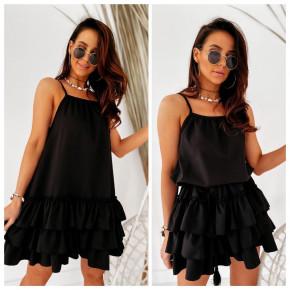 Γυναικείο φόρεμα με εντυπωσιακό κάτω μέρος 5111 μαύρο