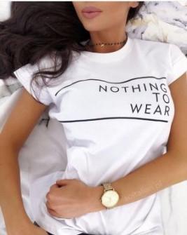 Γυναικείο κοντομάνικο μπλουζάκι 730512 λευκό