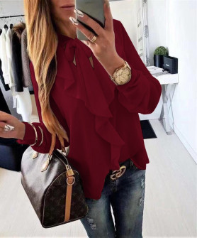 Γυναικείο πουκάμισο 1055 μπορντό