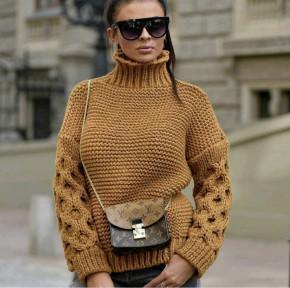 Γυναικείο πουλόβερ 7211 μουσταρδί