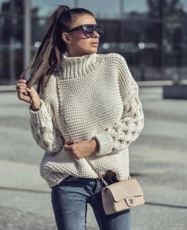 Γυναικείο πουλόβερ 7211 μπεζ