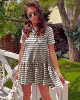 Γυναικείο μπλουζοφόρεμα 2315 μπεζ