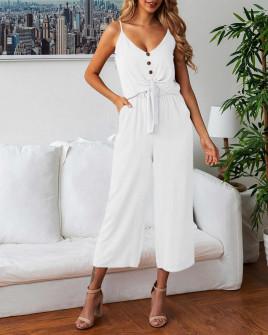 Γυναικείο σετ παντελόνι και τοπάκι 5106 άσπρο