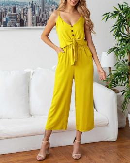 Γυναικείο σετ παντελόνι και τοπάκι 5106 κίτρινο