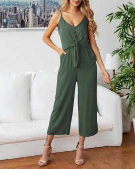 Γυναικείο σετ παντελόνι και τοπάκι 5106 σκούρο πράσινο