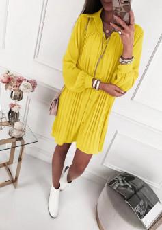 Γυναικείο μπλουζοφόρεμα 5021 κίτρινο