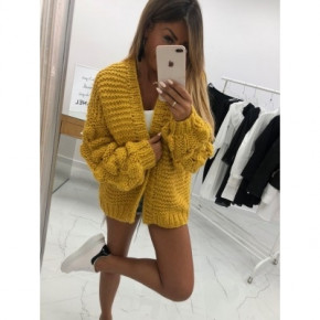 Γυναικεία ζακέτα 7107 κίτρινο