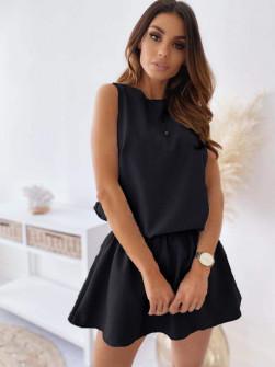 Γυναικείο κοντό φόρεμα 2325 μαύρο