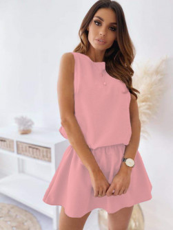 Γυναικείο κοντό φόρεμα 2325 ροζ
