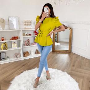 Γυναικεία μπλούζα με ζώνη 3280 κίτρινη
