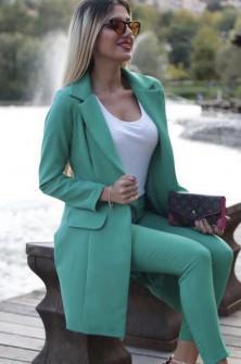 Γυναικείο σετ σακάκι και παντελόνι 3311 πράσινο