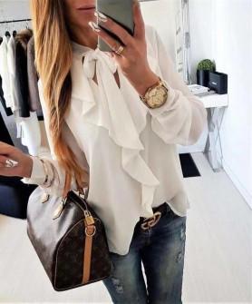 Γυναικείο πουκάμισο 1055 άσπρο