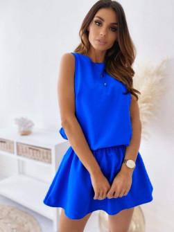 Γυναικείο κοντό φόρεμα 2325 μπλε