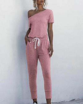 Γυναικεία αθλητική ολόσωμη φόρμα 2194 ροζ