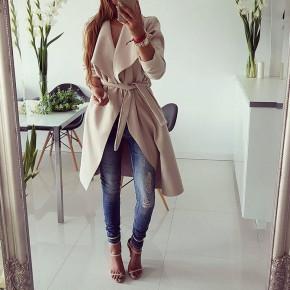Γυναικείο παλτό 1220 μπεζ