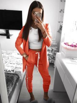 Γυναικείο σετ σακάκι και παντελόνι 3972 πορτοκαλί