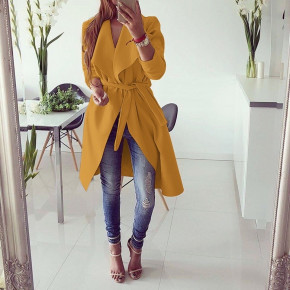Γυναικείο παλτό 1220 μουσταρδί