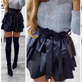 Γυναικεία φούστα δερματίνης 0269 μαύρη