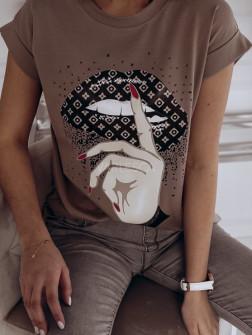 Γυναικείο κοντομάνικο μπλουζάκι 7451
