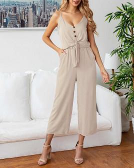 Γυναικείο σετ παντελόνι και τοπάκι 5106 μπεζ