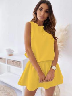 Γυναικείο κοντό φόρεμα 2325 κίτρινο