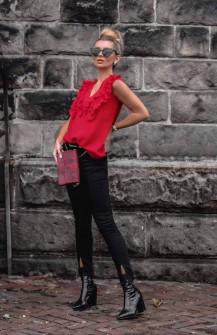Γυναικείο τοπάκι με εντυπωσιακό ντεκολτέ 3284 κόκκινο