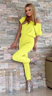 Γυναικεία ολόσωμη φόρμα 2193 κίτρινο