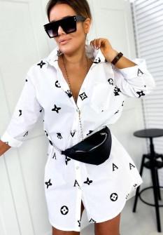 Γυναικείο μπλουζοφόρεμα 3240 άσπρο