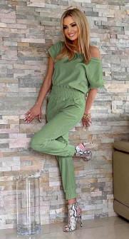 Γυναικεία ολόσωμη φόρμα 2193 πράσινο