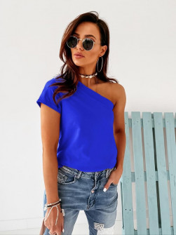 Γυναικεία μπλούζα με ένα μανίκι 5093 μπλε