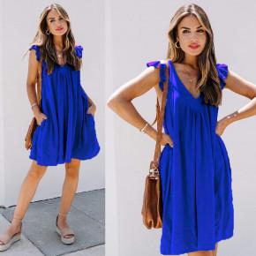 Γυναικείο φόρεμα 7074 μπλε