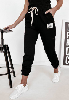 Γυναικείο αθλητικό παντελόνι 4701 μαύρο