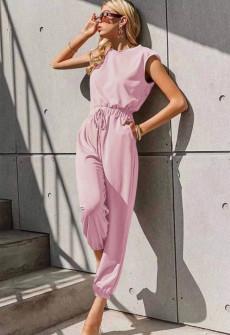 Γυναικεία χαλαρή ολόσωμη 5657 ροζ