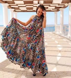 Γυναικείο εντυπωσιακό χαλαρό φόρεμα 2122205