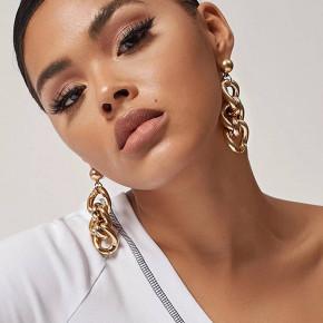 Γυναικεία σκουλαρίκια SP35 χρυσαφί