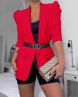 Γυναικείο κομψό σακάκι 3969 κόκκινο