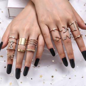 Γυναικείο σετ δαχτυλίδια SP313 χρυσαφί