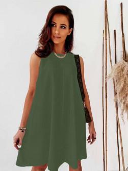 Γυναικείο χαλαρό φόρεμα 5748 χακί