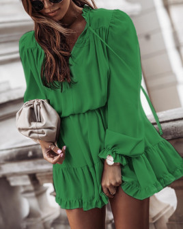 Γυναικείο εντυπωσιακό φόρεμα 7105 πράσινο