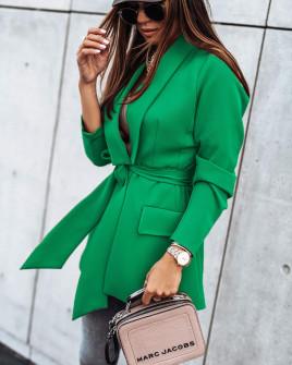 Γυναικείο σακάκι χωρίς φόδρα 8691 πράσινο