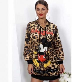 Γυναικείο μπλουζοφόρεμα με στάμπα  359712