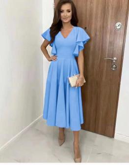 Γυναικείο φόρεμα μίντι 8059 γαλάζιο