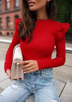 Εντυπωσιακή εφαρμοστή μπλούζα 5400 κόκκινη