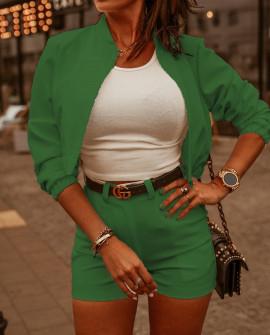 Γυναικείο σετ μπουφάν και σορτσάκι 19645 πράσινο