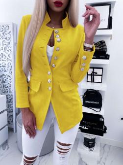 Γυναικείο σουετ σακάκι 5073 κίτρινο