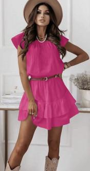 Γυναικείο φόρεμα με ζώνη 5736 φούξια