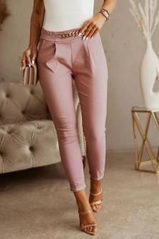 Γυναικείο εντυπωσιακό παντελόνι 5886 ροζ